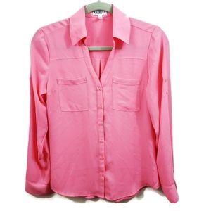 Express | The Portofino Shirt Pink Button Front